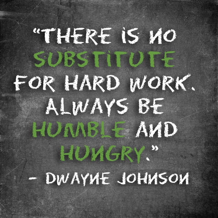 Hard Work Quotes - The Rock