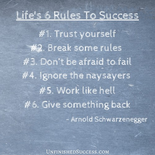Life's 6 Rules To Success