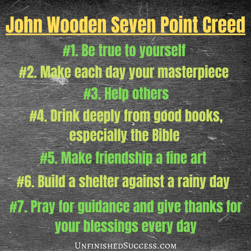 John Wooden Seven Point Creed