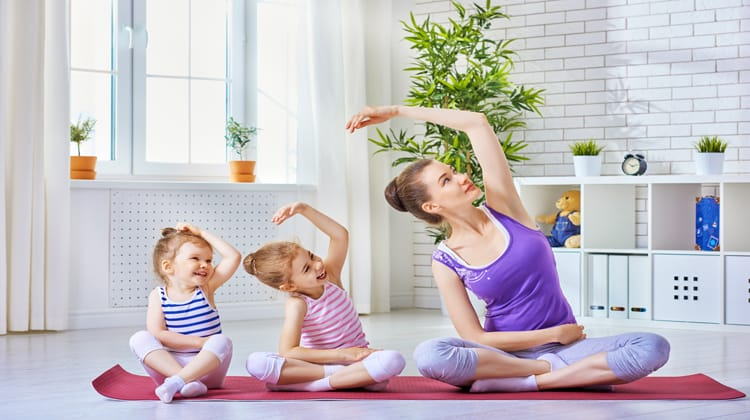 Mom And Kids Yoga